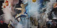 St Georges - technique mixte sur toile - dyptique - 100x80 - 2019